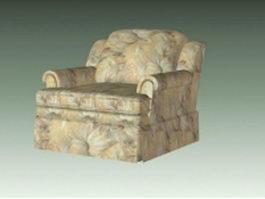 Floral sofa chair 3d preview