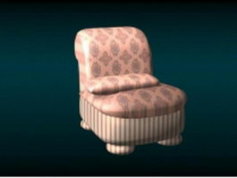 Upholstered single sofa chair 3d preview