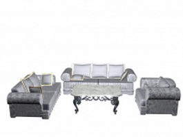 Living room furniture sets 3d preview