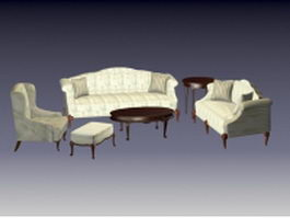Sectional living room sets 3d preview