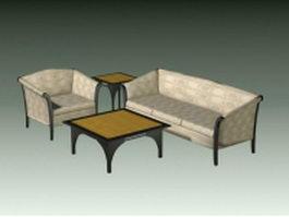 4 Piece living room set 3d preview