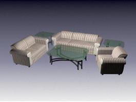 6 Piece living room set 3d preview