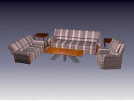 Elegant living room sets 3d preview