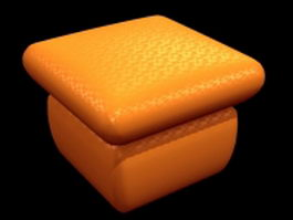 Orange ottoman 3d preview