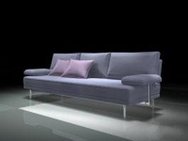 Modern blue sofa 3d preview