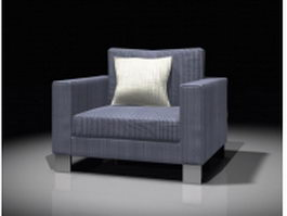 Upholstery sofa chair 3d preview