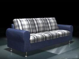 Modern plaid sofa 3d preview
