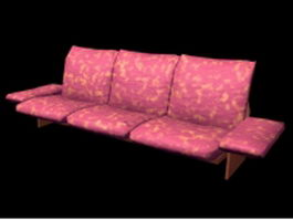 Floral print sofa 3d preview