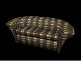 French country loveseat 3d preview