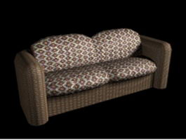Upholstery loveseat 3d preview