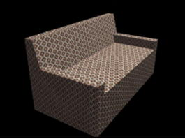 Fabric settee 3d preview