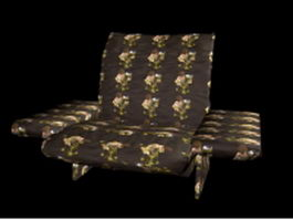Fabric recliner chair 3d preview