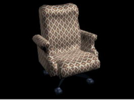 Swivel sofa chair 3d preview