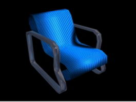 Reclining accent chair 3d preview
