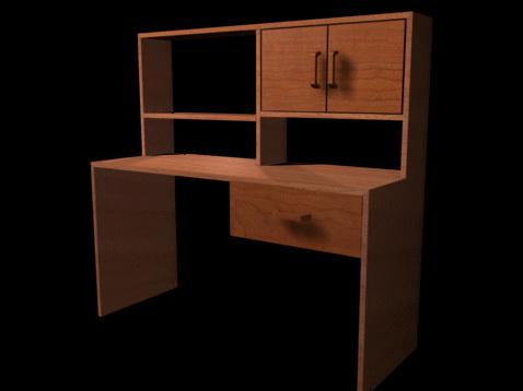 Office storage shelf 3d rendering