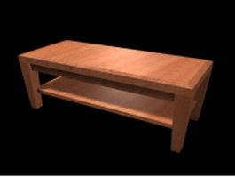 Rustic coffee table 3d preview