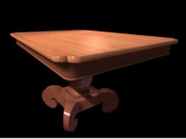Pedestal coffee table 3d preview