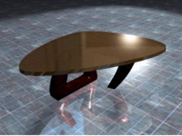 Triangle coffee table 3d preview