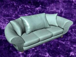 Sky blue sofa 3d preview
