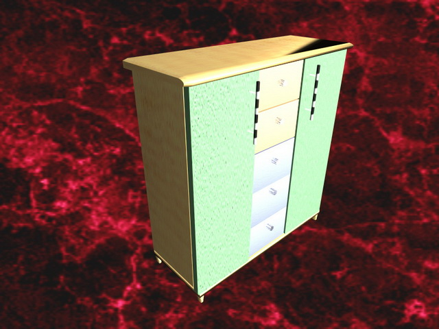 Modern chest of drawers furniture 3d rendering