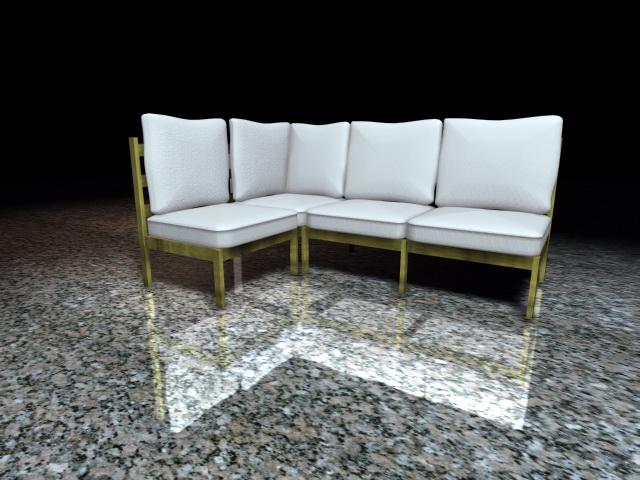 Corner sectional sofa 3d rendering