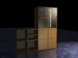 Office wall filing cabinet 3d preview