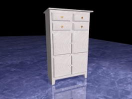 Tall filing cabinet 3d preview