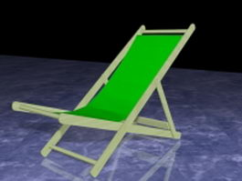 Folding sun lounger 3d preview