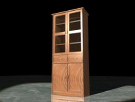 Tall bookcases 3d model preview
