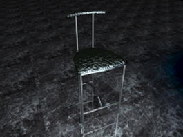Metal dining chair 3d preview