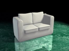 White loveseat 3d preview