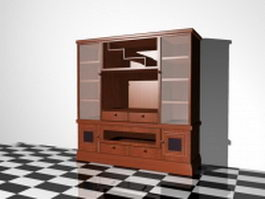 Wall storage cabinet 3d preview