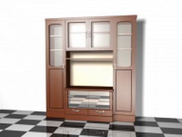 Office wall storage cabinet 3d preview