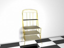 Office magazine rack 3d preview