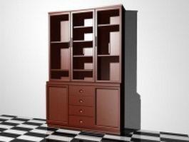 Bookshelf with doors 3d preview