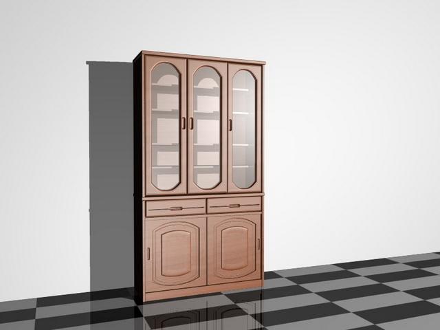 Cupboard furniture 3d rendering
