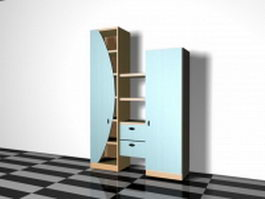 Storage cabinet with shelves 3d preview