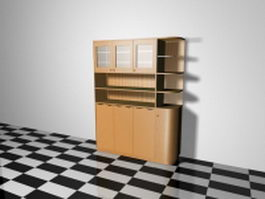 Living room storage cabinet 3d preview