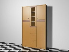 Storage cabinet furniture 3d preview