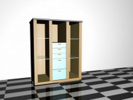 Toy storage cabinet 3d preview