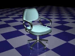 Blue revolving chair 3d preview