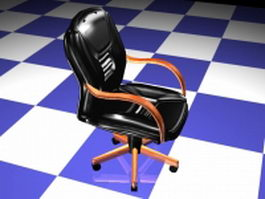Leather executive chair 3d preview