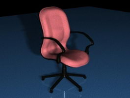 Pink office chair 3d preview
