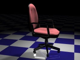 Pink office chair 3d model preview