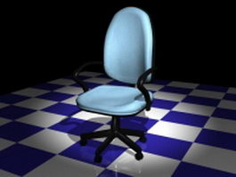 Office staff chair 3d preview