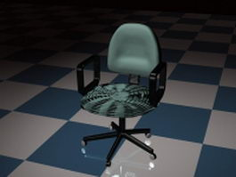 Fabric office chair 3d model preview