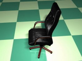 High back executive chair 3d preview