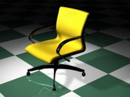 Yellow office chair 3d model preview