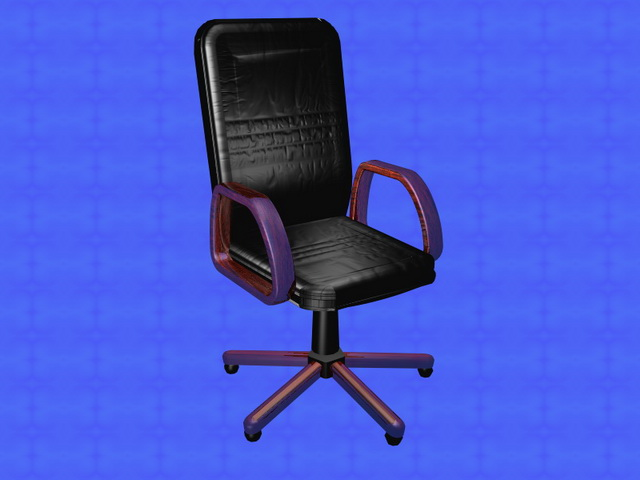executive leather office chair 3d rendering