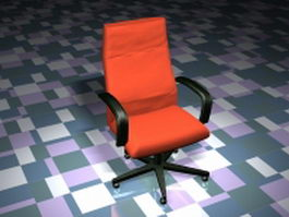 Orange executive chair 3d preview